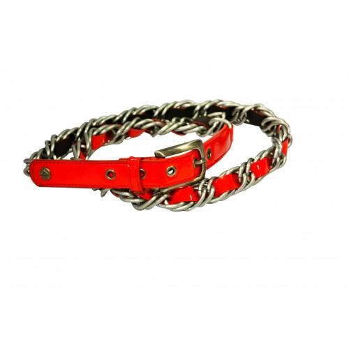 Cintura donna Almaplena Vera pelle rossa