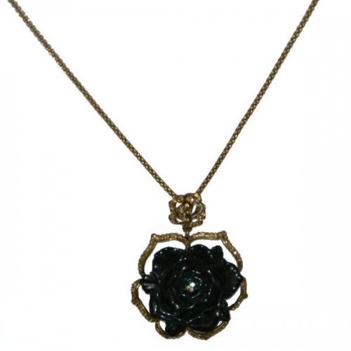 Collier donna in metallo con pendente free nichel nero