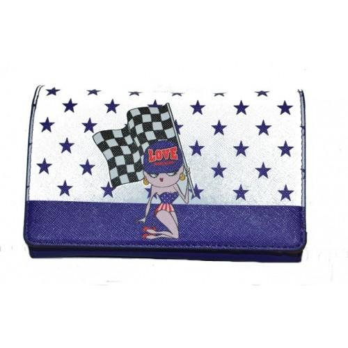 Moschino portafoglio donna blu
