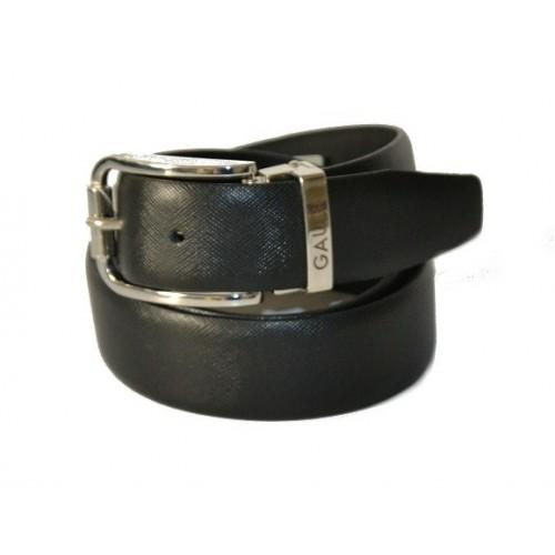 Cintura elegante per Uomo Gaudi vera pelle saffiano nera