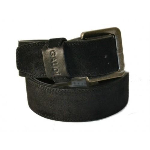Cintura per Uomo Gaudi  vera pelle camoscio nero