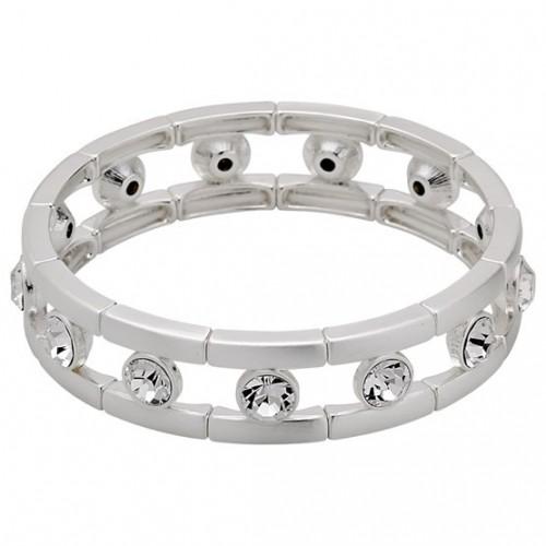 Bracciale Pilgrim argento classico placcato bianco