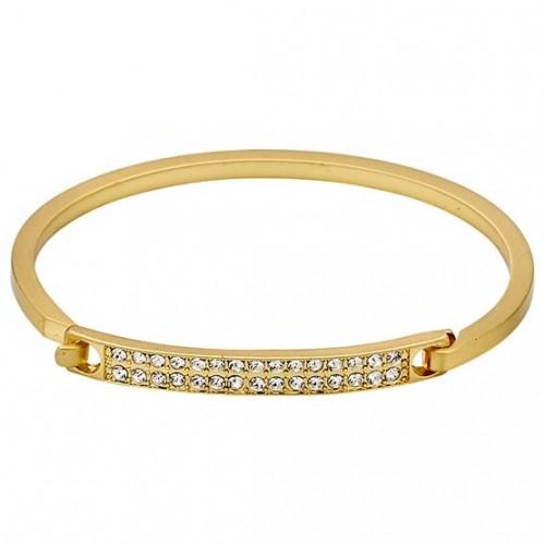 Bracciale Pilgrim classico placcato oro e con cristalli