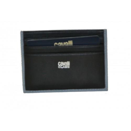 Roberto Cavalli Class Porta carte di credito uomo grigio