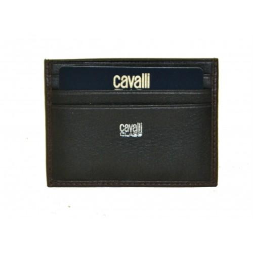 Roberto Cavalli Class Porta carte di credito uomo nero