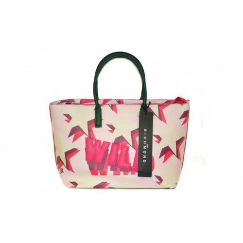 Borsa John Richmond shopping bag grande rosa