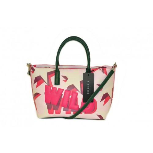 Borsa John Richmond shopping bag media rosa con tracolla