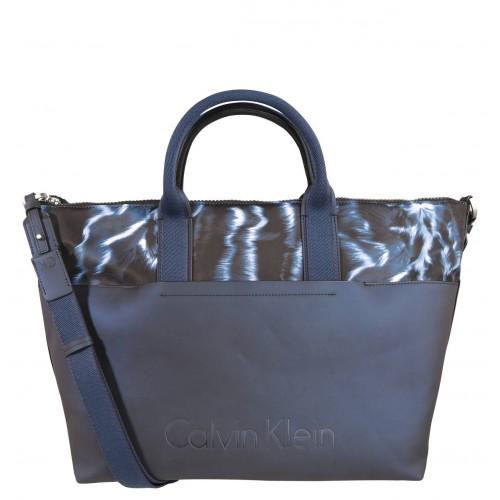 Borsa shopping donna Calvin Klein Susi3  large tote blu