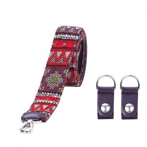 O bag tracolla lunga in ecopelle O Pocket fantasia folk tribe bordeaux