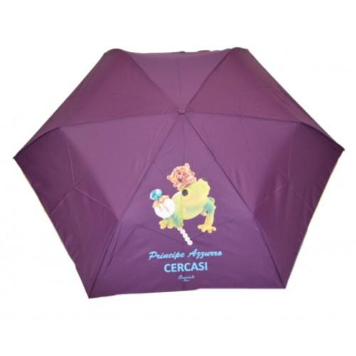 Ombrello mini da borsa Camomilla manuale viola