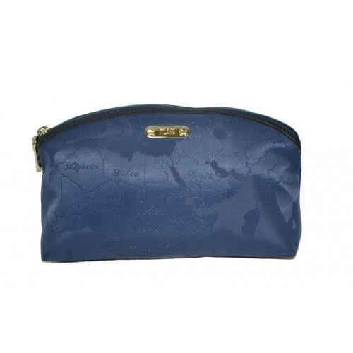 Borsello Alviero Martini prima classe jaquard blu beauty case con zip
