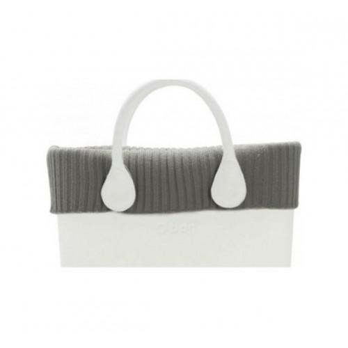 O bag bordo lana coste larghe tortora per o bag grande