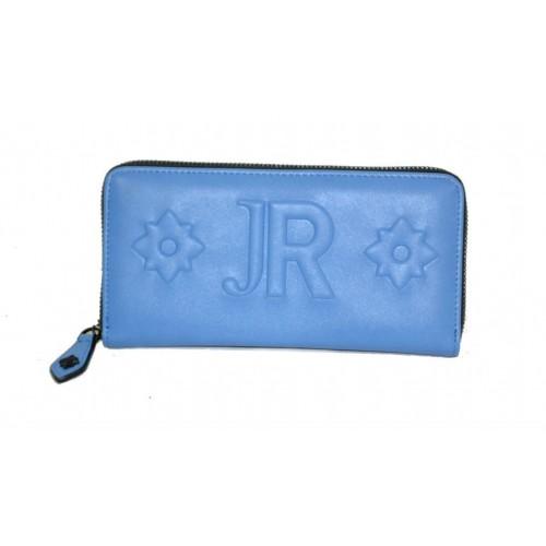 Portafoglio John Richmond donna blu con zip
