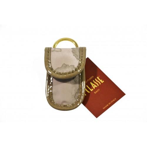 Portachiavi da borsa Alviero Martini grigio silk